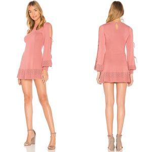 Tularosa Claire Dress in Rose Knit Long Sleeve